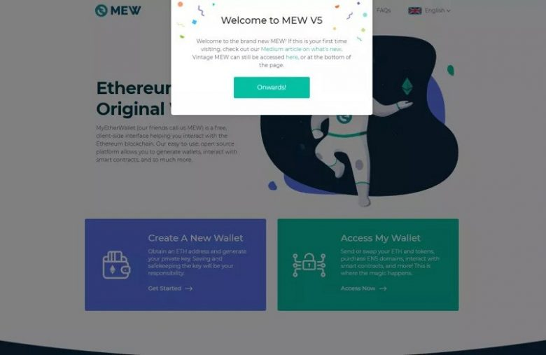 Ethereum Wallet MyEtherWallet releases its New MEW V5 Version