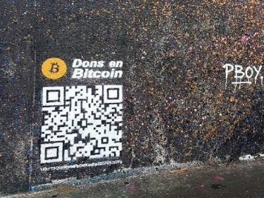 A graffiti artist receives a donation of 1 Bitcoin