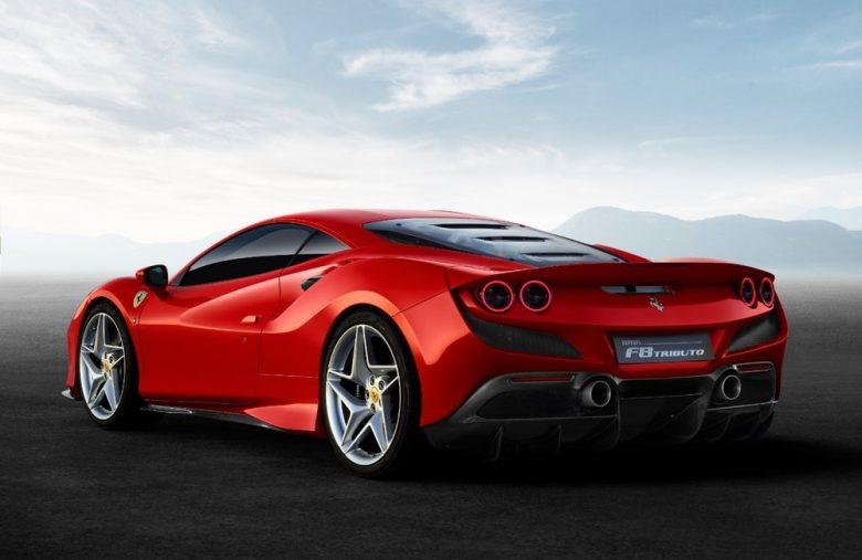 Ferrari F8 tributo with bitcoin