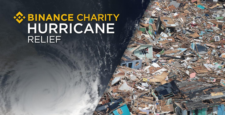 Binance launches donation campaign to help victims of Hurricane Dorian