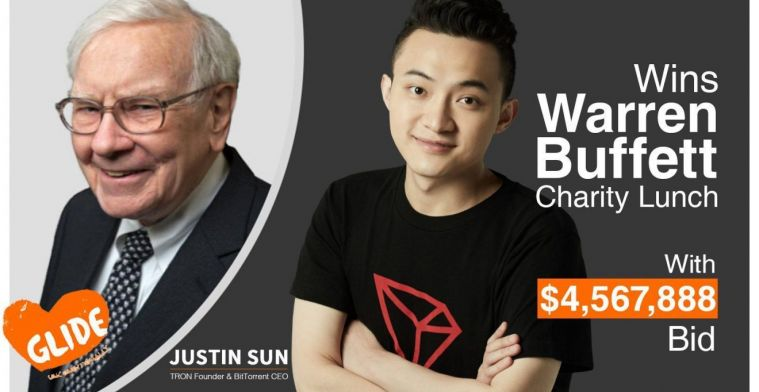 Justin Sun from Tron will reschedule the lunch with Warren Buffett very soon