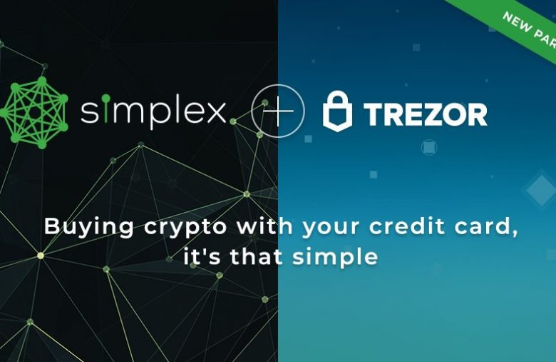 Crypto wallet Trezor adds the purchase of cryptocurrency by credit card with Simplex