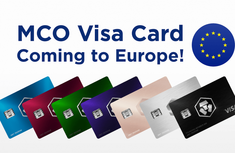 Crypto.com announces that Visa has approved the launch of its Visa MCO Cards in Europe