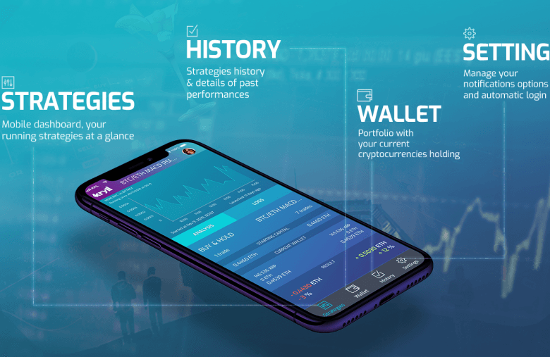 Crypto trading on mobile with kryll