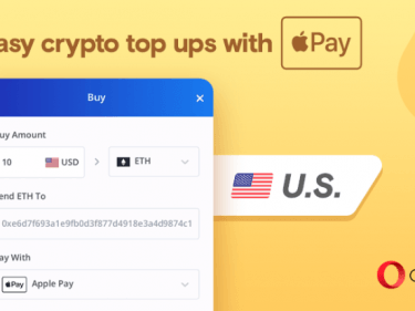 Buy Bitcoin with Apple Pay on the Opera web browser