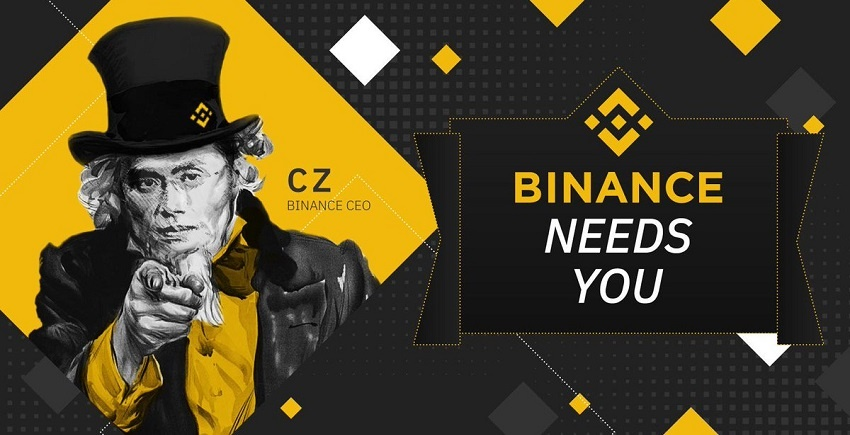 Booming blockchain jobs and crypto jobs, Binance has over 1,000 employees and is still recruiting