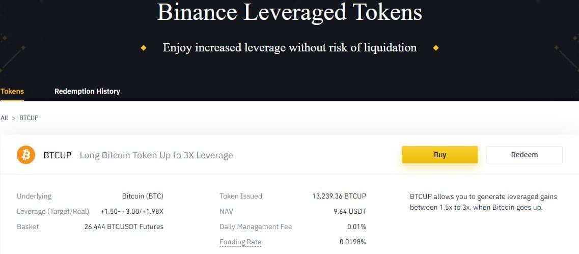 binance leveraged tokens btcup btcdown
