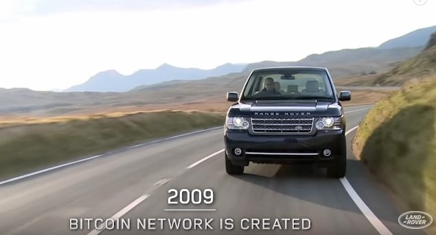 Bitcoin Appears In Land Rover Video To Celebrate 50 Years Of Range Rover