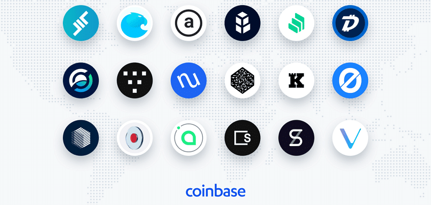 Coinbase plans to list 18 new cryptocurrencies including Vechain and Digibyte