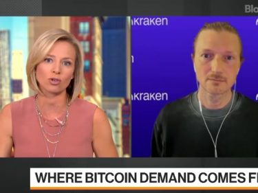 On Bloomberg, Kraken CEO confirms the growing number of institutional investors buying Bitcoin