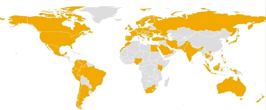 Which country in the world is most interested in Bitcoin