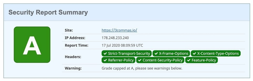3commas bitcoin bot security test