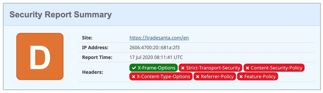 tradesanta copy trading bot security test