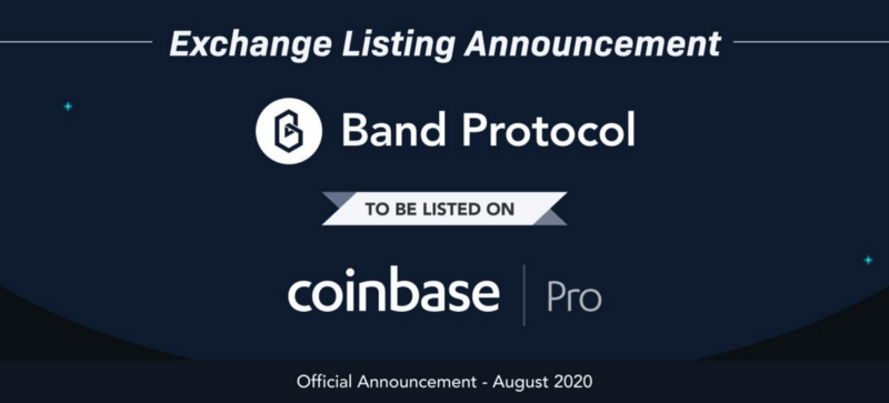 Band Protocol arrives on Coinbase Pro
