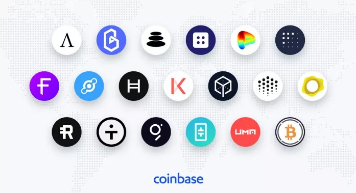 Coinbase takes an interest in DeFi decentralized finance for its next cryptocurrency listings