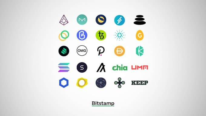 Bitcoin exchange Bitstamp releases a list of 25 altcoins and stablecoins that may be added to its trading platform