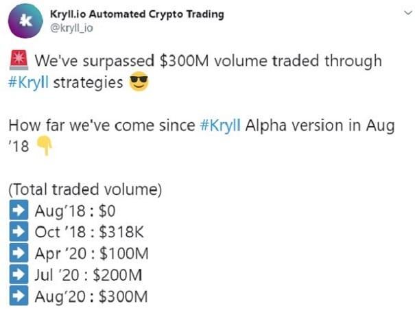 kryll 300 million trading
