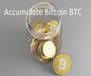Accumulate bitcoin btc
