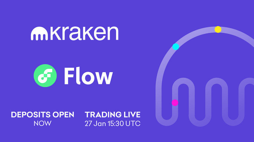 FLOW cryptocurrency listed on Kraken on January 27, 2021