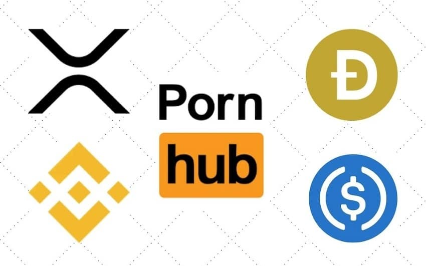 Porn and crypto, Ripple XRP, Binance coin (BNB), Dogecoin (DOGE) and USDC stablecoin are now accepted on Pornhub