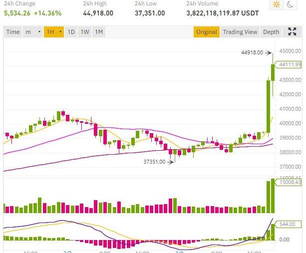 bitcoin price tesla