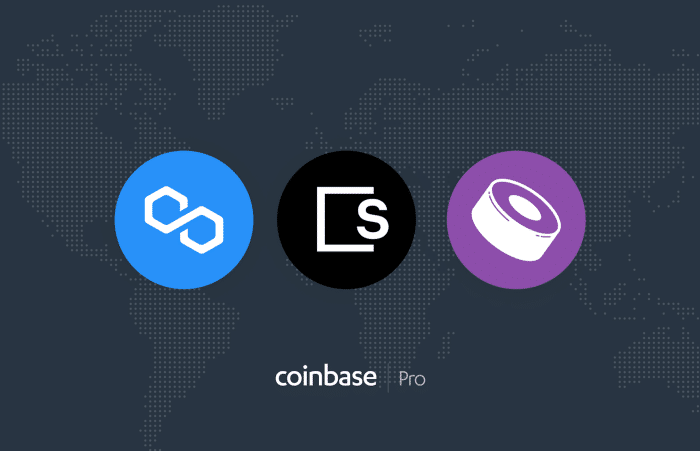 Polygon (MATIC), SKALE (SKL) and SushiSwap (SUSHI) listed on Coinbase Pro