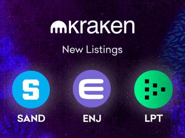 Sandbox (SAND), Enjin (ENJ) and LivePeer (LPT) cryptocurrencies arrive on Kraken