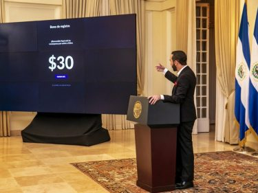 President Nayib Bukele announced that El Salvador will give $30 in Bitcoin to every citizen