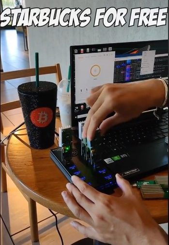 bitcoin mining with free electricity at starbucks